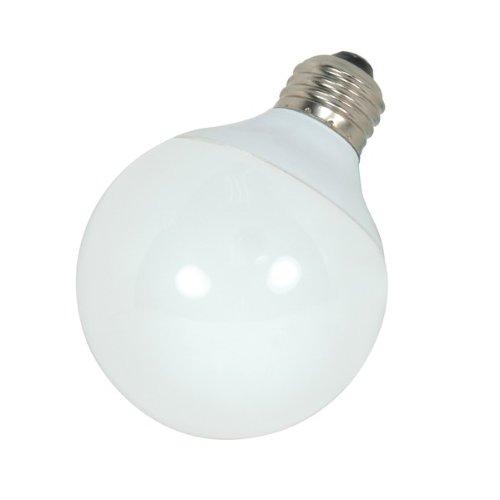 12 Pack Satco S7304 15 Watt 820 Lumens Globe G25 Compact Fluorescent (CFL) 2700K Light Bulb (60 Watt Replacement)