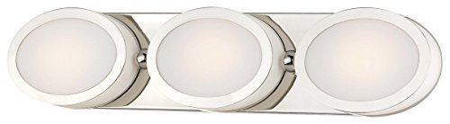 Minka Lavery 2903-613-L Pearl LED Bath Art Lamp, Polished Nickel (Pearl Bathroom Sconce)
