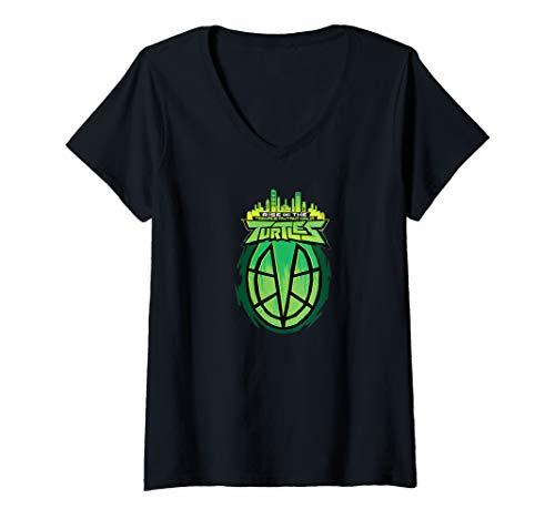 Womens Rise of The Teenage Mutant Ninja Turtles Exclusive V-Neck T-Shirt -