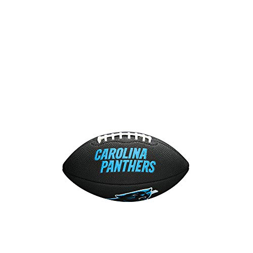 NFL Team Logo Mini Football, Black - Carolina Panthers -