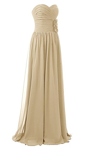 Long AN81 Blue Strapless Empire Women's Navy Bridesmaid Chiffon Anlin Ruffle Flower Dress Maxi v5w7Cxxq1