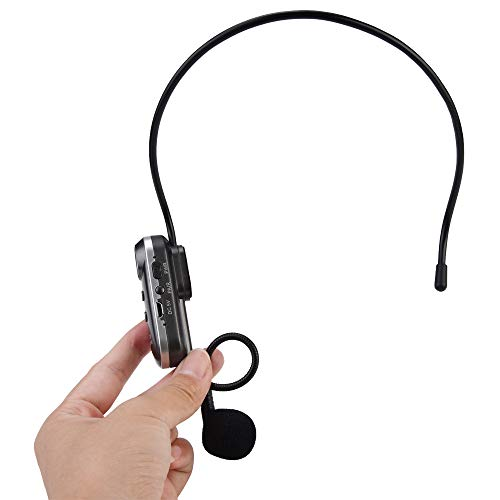 Wireless Microphone System Rechargeable Microphone Headset Beltpack Transmitter/Receiver, for Voice Amplifier External Speaker Ideal for Teaching, Preaching and Public Speaking Applications. ()
