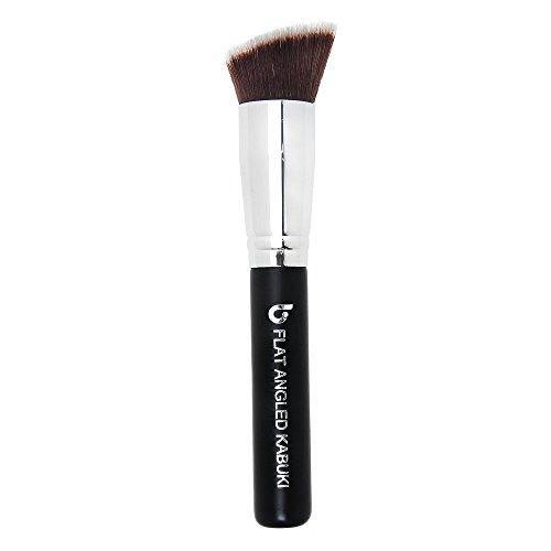 Bronzer Makeup Brush Angled Kabuki - Best Large Face Brush Full Face Powder Cream Contouring Highlighter Make Up Blending Buffing Cosmetic Applicator Soft Dense Synthetic Vegan Brochas de Maquillaje