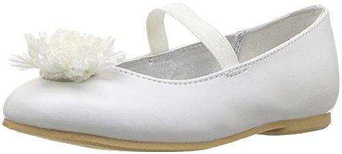 Nina Girls' Jemma-t Ballet Flat, White, 7 M US Toddler - Image 1