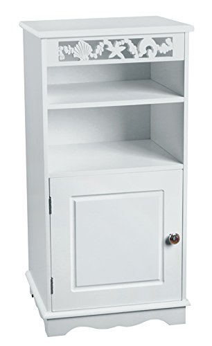 Aspect 40 x 30 x 80 cm Wooden MDF Ellsworth Floor Standing Cabinet Bathroom Storage Cabinet, White from Aspect