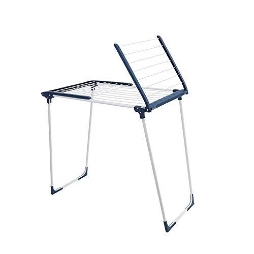 ステンレス鋼の床の伸縮自在の腕の乾燥の棚、屋内バルコニーの家の服の棒、ハンガーの床の乾燥の棚 Nosterappou B07RFKST4L