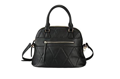 Es domingo por la manera de las mujeres Silence bolsos diseñador de las señoras bolso Messenger Bag & Media cremallera superior negro