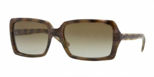 Burberry BE4075 Sunglasses - 3139/13 Green Horn (Brown Gradient Lens) - 56mm