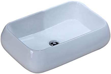 DS- (タップなし)バスルームの洗面台、矩形のセラミック上記カウンタ流域シンク技術流域単一流域、60X40X16cm 洗面ボール && (Size : 60X40X16cm)