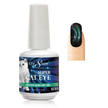 ([SC03] Cre8tion - Cat Eye Collection Soak Off Gel [Easy Application] LED/UV cured 15mL/0.5 fl oz)