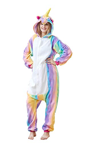 Xiqupjs Unisex Adult Unicorn Cosplay Costumes Animal Onesies Pajamas Halloween Homewear Xmas Jumpsuit