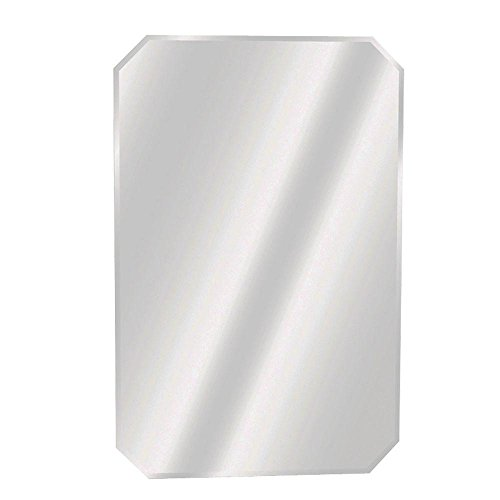 Zenith - 16 in. x 24 in. Frameless Beveled Swing Door Recessed Medicine Cabinet -