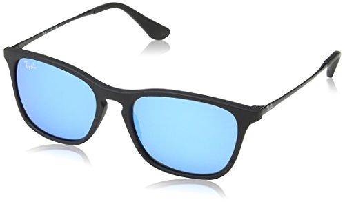 Ray-Ban Jr. Kids RJ9061s Rectangular Sunglasses, Rubber Black, 49 - Bans Jr Ray