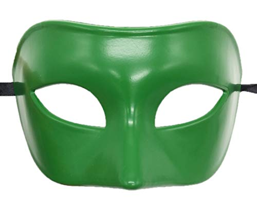 Coolwife Mens Masquerade Mask Greek Roman Party Mask Mardi Gras Halloween Mask (A Green) ()