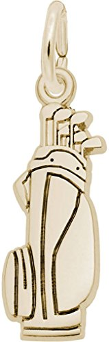 (Rembrandt Flat Golf Bag Charm - Metal - Gold-Plated Sterling Silver)