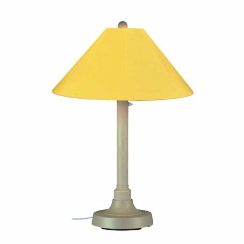 - Patio Living Concepts San Juan 34 in. Outdoor Bisque Table Lamp with Buttercup Shade