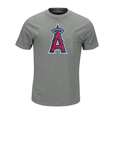 VF LSG MLB Los Angeles Angels Men's Score & Win Tops, Tri Gray Heather, Medium