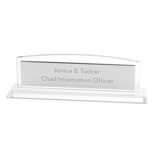 Things Remembered Personalized Glass Name Bar with Engraving Included