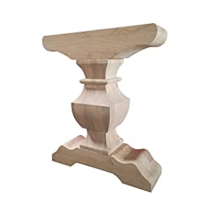 Trestle Table Base- Single Hardwood Pedestal- Design 59 (P02)