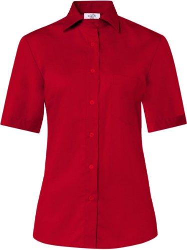Corta Donna Greiff Rosso Fit camicetta 6651 Basic Style Manica Comfort dYqnHqU1