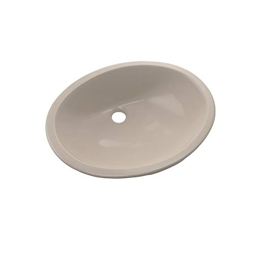TOTO LT579G#03 Rendezvous Oval Undermount Bathroom Sink with CEFIONTECT, Bone