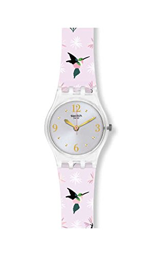 Swatch Women's Envole Moi LK376 Clear Silicone Swiss Quartz Fashion Watch