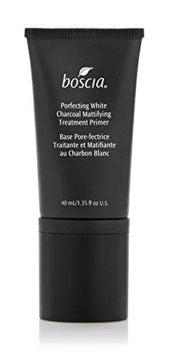 Treatment Primer - boscia Porefecting White Charcoal Mattifying Treatment Primer - Vegan Makeup Face Primer with Binchotan and Witch Hazel for Oily Skin, 40mL