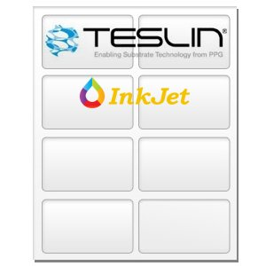 Teslin Synthetic Paper - for Inkjet Printers - Micro-Perforated 8-up - 10 Mil | 25 Sheets