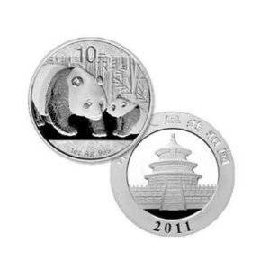 (2011 China 10 Yuan Panda 1 Ounce .999 Silver Gem Uncirculated)