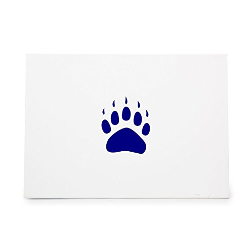 Paw Print Tracking Polar Bear Style 15409, Rubber Stamp Shape great for Scrapbooking, Crafts, Card Making, Ink Stamping Crafts