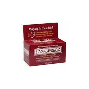 Lipoflavonoid Caplets to Improve Inner Ear Circulation - 100 Caplets, 2 Ea