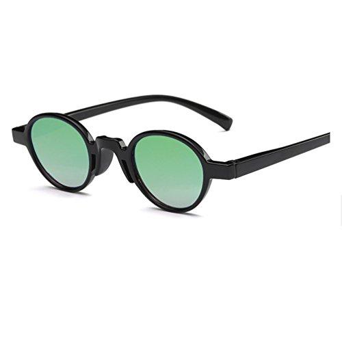 Color Mujer de Verde Gafas Cine de Marco Gafas de para Rosa Sol Mujer de y YANJING para Hombre Color Hombre Negro ZYXCC Redondo Sol y Personalizado ftZzxq