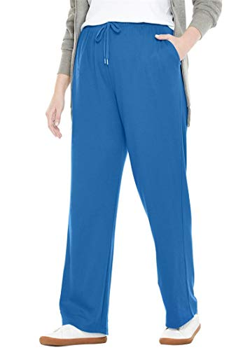 Woman Within Plus Size Tall Sport Knit Straight Leg Pant
