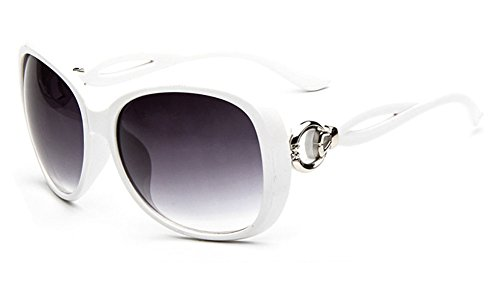 pour de mode Retro Design de soleil Vintage lunettes Blanc femmes tqAqRwXn