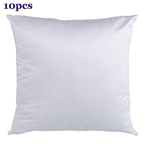 H-E Plain White Sublimation Blank Pillow Case Fashion Cushion Pillowcase Cover for Heat Press Printing Throw Pillow Covers -