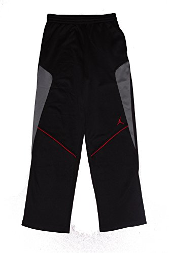 Jordan Big Boys Therma-Fit Basketball Pants (M (10-12 YRS), Black/Gym Red/Grey)