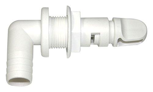 - T-H Marine AHV-92-DP Aerator Spray Head, 90 Degree Fixed Flange - White