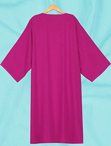 De a710 Verano Leela Que Llanura A Las Rosa Mantón Sólida Cubierta Cubre Largo Rebeca Del Kimono Superior Rayón La Mujeres xpEqwSnSH