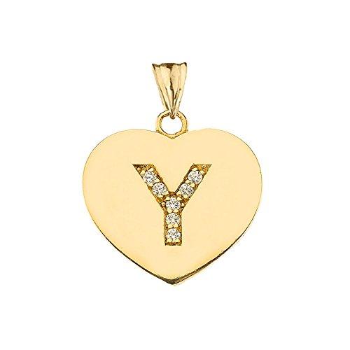 Elegant 10k Yellow Gold Diamond Initial