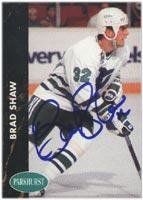 Brad Shaw Hartford Whalers 1991 Parkhurst Autographed Card. This item comes with a certificate of authenticity from Autograph-Sports. Autographed -
