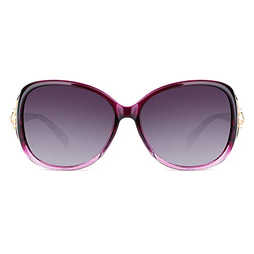 Purple surdimensionnées polarisées CJJC idéales Vacances présentes Classiques Filles pour Mode Couleur de pour Lunettes Soleil Lunettes Femmes Conduite Multi de achats de Soleil wwxCqrBP