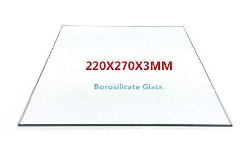 Placa de cristal de borosilicato HEASEN 220 x 270 mm, placa de ...