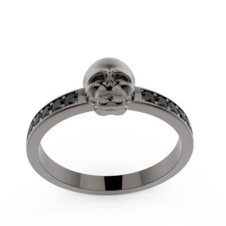 TYPHOON Bagues Argent Diamant Noir 0,28