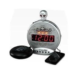 Sonic Alert The Skull Alarm Clock with Bone Crusher Bed Shaker (SBS550bc)