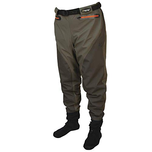 Frogg Toggs Pilot II Breathable Stockingfoot Guide Pant, Stone/Taupe, Size Medium ()