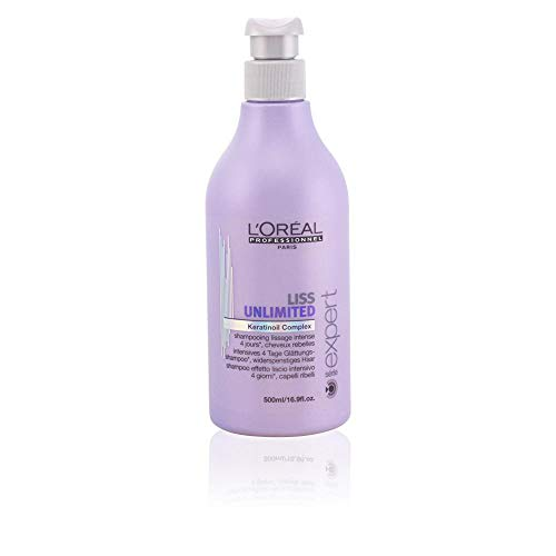 L'oreal Liss Unlimited Keratinoil Complex Shampoo for Unisex, 16.9 Ounce