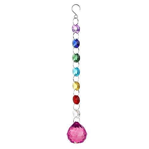 Clearance Sale!UMFun Crystal DIY Bohemian Clear Crystal Ball Prisms Pendant Hanging Wedding Decor Gift (H)