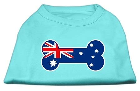 Mirage Pet Products Bone Shaped Australian Flag Screen Print Shirt, 3X-Large, -