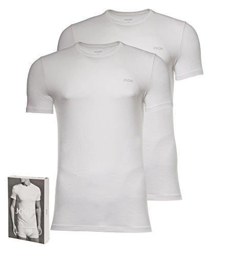 JOOP! Herren 2er-Pack Fine Cotton Stretch Rundhals T-Shirt, Unterhemd, Einfarbig: Farbe: Weiß | Größe: 5 (Medium)
