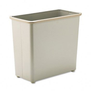 Safco® Square and Rectangular Fire-Safe Wastebaskets WASTEBASKET,RECT27.5QT,SD P3231ZP (Pack of2) (Square Rectangular Wastebasket)